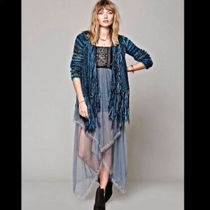 Free people rare tulle maxi dress
